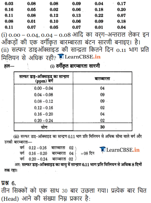 NCERT Solutions for Class 9 Maths Chapter 14 Statistics Exercise 14.2 all answers guide free