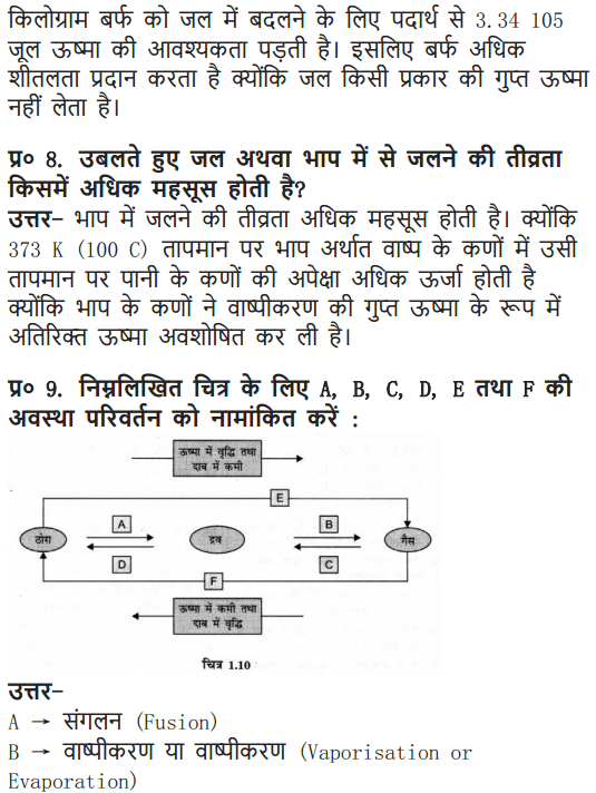 NCERT Solutions for Class 9 Science Chapter 1 Matter in Our Surroundings Hindi Medium 13