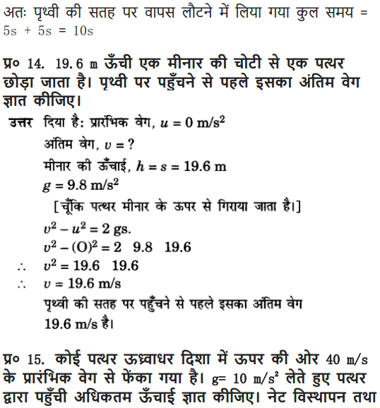 NCERT Solutions for Class 9 Science Chapter 10 Gravitation and Floatation Hindi Medium 16