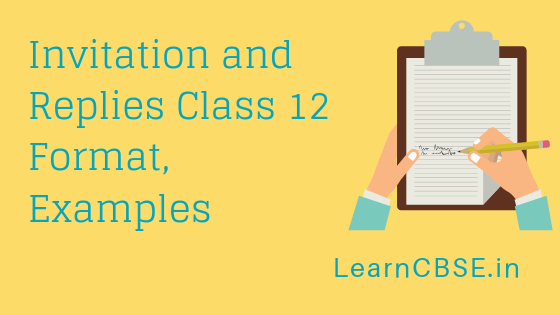 invitation and replies class 12 format