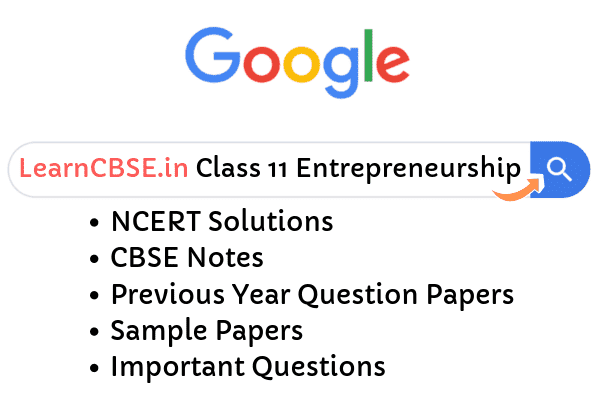 NCERT Solutions for Class 11 Entrepreneurship