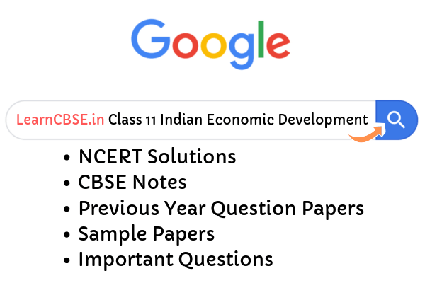 NCERT Solutions for Class 11 Indian Economic Development