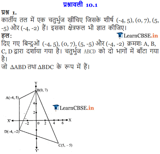 NCERT Solutions for Class 1 Maths Chapter 10 Straight Lines (सरल रेखाएँ)