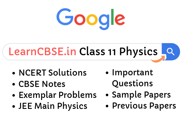 NCERT Solutions for Class 11 Physics