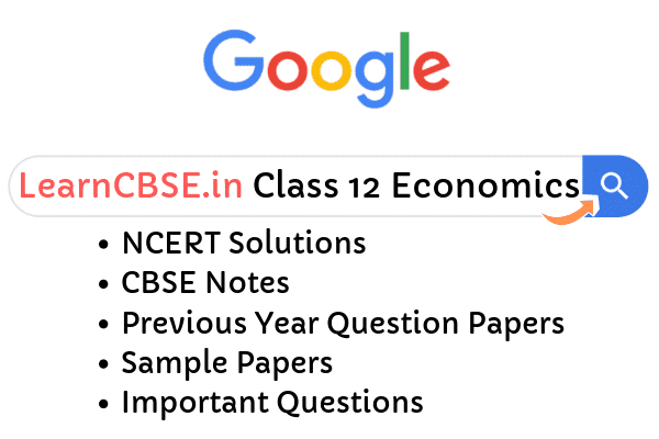 NCERT Solutions for Class 12 Economics