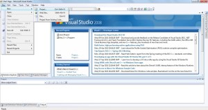 Open Microsoft Visual Studio 2008