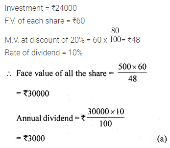 ML Aggarwal Class 10 Solutions for ICSE Maths Chapter 3 Shares and Dividends MCQS