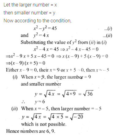 ML Aggarwal Class 10 Solutions for ICSE Maths Chapter 5 Quadratic Equations in One Variable MCQS