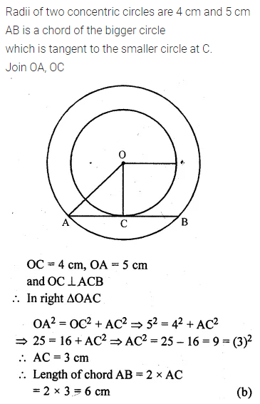 ML Aggarwal Class 10 Solutions for ICSE Maths Chapter 15 Circles MCQS