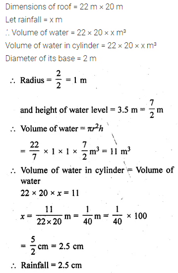 ML Aggarwal Class 10 Solutions for ICSE Maths Chapter 17 Mensuration Ex 17.5