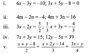 Maharashtra Board Class 10 Maths Solutions Chapter 1 Linear Equations in Two Variables Problem Set 14