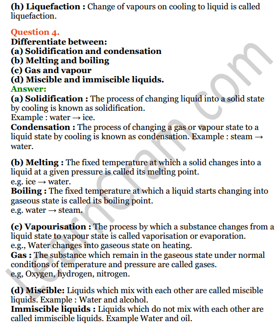Selina Concise Chemistry Class 6 ICSE Solutions Chapter 3 Matter 9