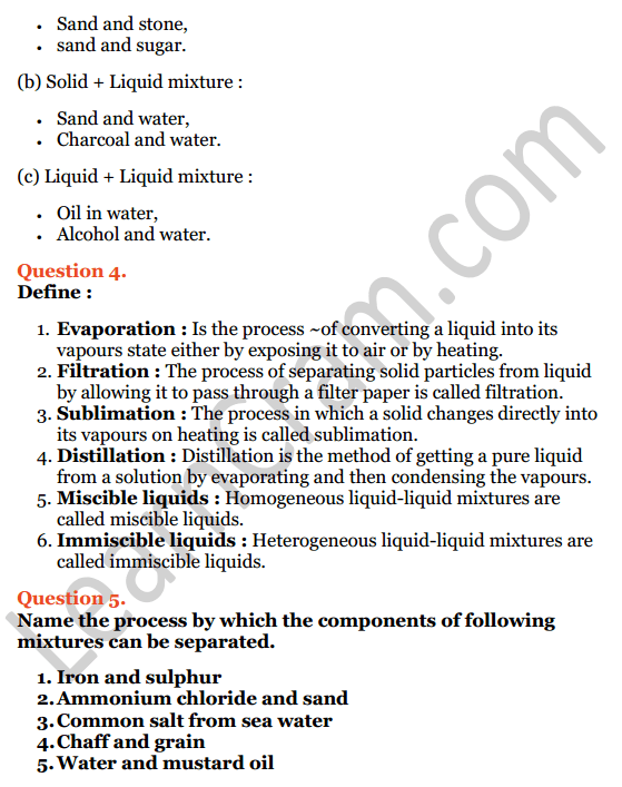 Selina Concise Chemistry Class 7 ICSE Solutions Chapter 3 Elements, Compounds and Mixtures 5