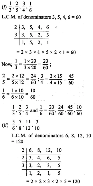 Selina Concise Mathematics Class 6 ICSE Solutions Chapter 14 Fractions Ex 14A 6