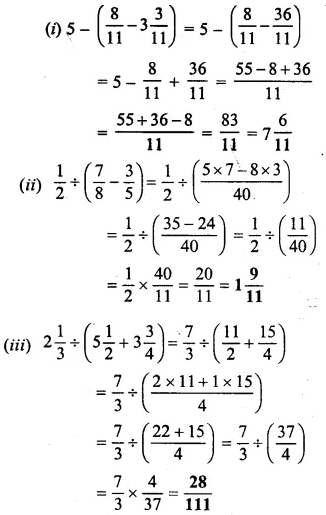 Selina Concise Mathematics Class 6 ICSE Solutions Chapter 14 Fractions Ex 14D 35
