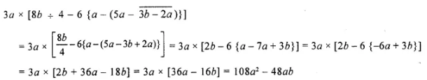 Selina Concise Mathematics Class 8 ICSE Solutions Chapter 11 Algebraic Expressions (Including Operations on Algebraic Expressions) Ex 11E 72