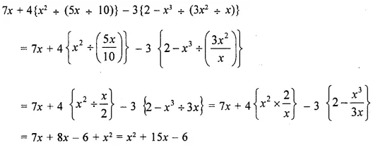 Selina Concise Mathematics Class 8 ICSE Solutions Chapter 11 Algebraic Expressions (Including Operations on Algebraic Expressions) Ex 11E 73