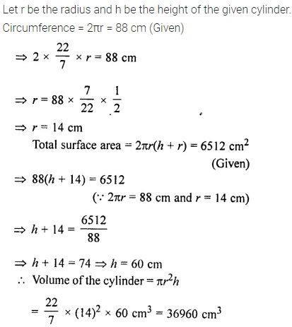 Selina Concise Mathematics Class 8 ICSE Solutions Chapter 21 Surface Area, Volume and Capacity (Cuboid, Cube and Cylinder) Ex 21D 40