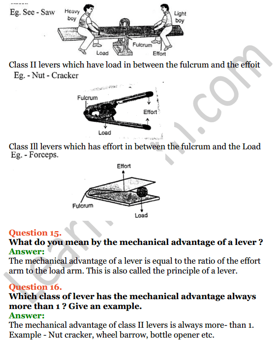 Selina Concise Physics Class 6 ICSE Solutions Chapter 4 Simple Machines 7