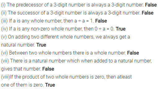 ML Aggarwal Class 6 Solutions for ICSE Maths Chapter 2 Whole Numbers Objective Type Questions 2