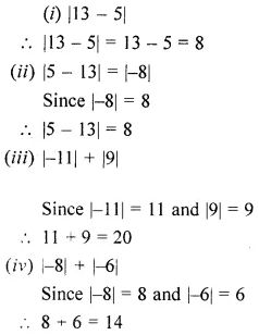 ML Aggarwal Class 6 Solutions for ICSE Maths Chapter 3 Integers Ex 3.1 12