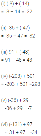 ML Aggarwal Class 6 Solutions for ICSE Maths Chapter 3 Integers Ex 3.2 3