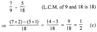 ML Aggarwal Class 6 Solutions for ICSE Maths Chapter 6 Fractions Objective Type Questions 27