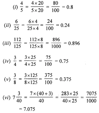 ML Aggarwal Class 6 Solutions for ICSE Maths Chapter 7 Decimals Ex 7.2 7