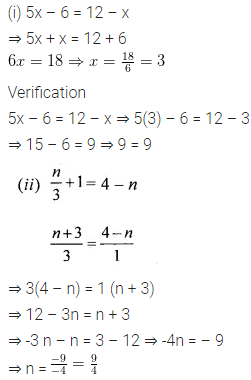 ML Aggarwal Class 6 Solutions for ICSE Maths Chapter 9 Algebra Ex 9.5 7