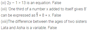 ML Aggarwal Class 6 Solutions for ICSE Maths Chapter 9 Algebra Objective Type Questions 3