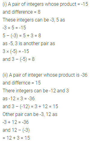 ML Aggarwal Class 7 Solutions for ICSE Maths Chapter 1 Integers Ex 1.3 10
