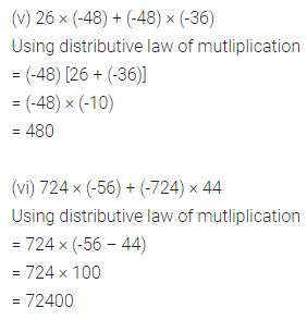 ML Aggarwal Class 7 Solutions for ICSE Maths Chapter 1 Integers Ex 1.3 5