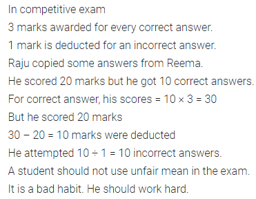 ML Aggarwal Class 7 Solutions for ICSE Maths Chapter 1 Integers Objective Type Questions 23