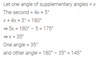 ML Aggarwal Class 7 Solutions for ICSE Maths Chapter 10 Lines and Angles Check Your Progress 3