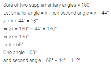 ML Aggarwal Class 7 Solutions for ICSE Maths Chapter 10 Lines and Angles Ex 10.1 9