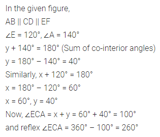 ML Aggarwal Class 7 Solutions for ICSE Maths Chapter 10 Lines and Angles Ex 10.2 15