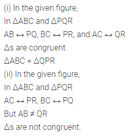 ML Aggarwal Class 7 Solutions for ICSE Maths Chapter 12 Congruence of Triangles Ex 12.1 4