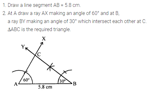 ML Aggarwal Class 7 Solutions for ICSE Maths Chapter 13 Practical Geometry Check Your Progress 5