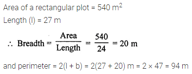 ML Aggarwal Class 7 Solutions for ICSE Maths Chapter 16 Perimeter and Area Ex 16.1 4
