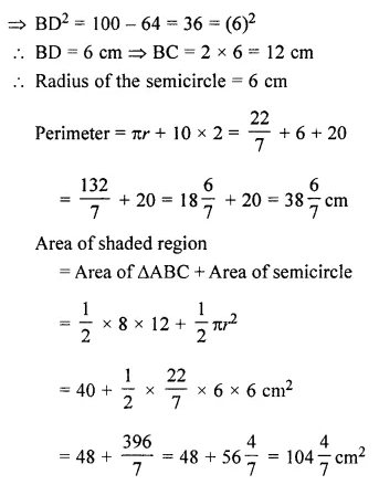 ML Aggarwal Class 7 Solutions for ICSE Maths Chapter 16 Perimeter and Area Ex 16.3 28