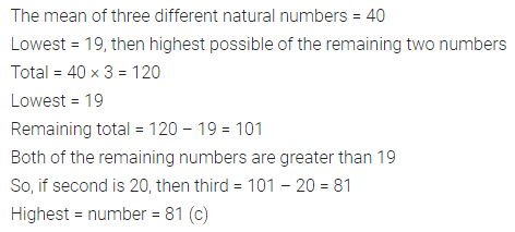 ML Aggarwal Class 7 Solutions for ICSE Maths Chapter 17 Data Handling Objective Type Questions 10