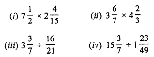 ML Aggarwal Class 7 Solutions for ICSE Maths Chapter 2 Fractions and Decimals Check Your Progress 2
