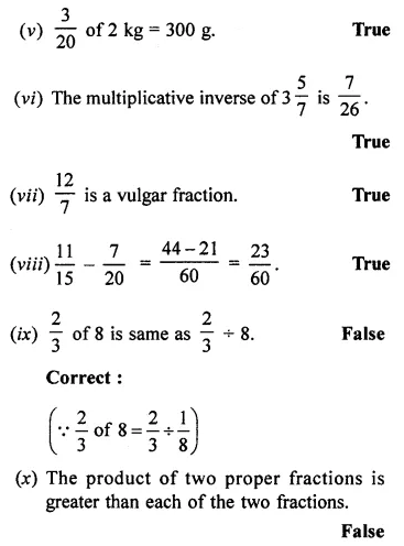 ML Aggarwal Class 7 Solutions for ICSE Maths Chapter 2 Fractions and Decimals Objective Type Questions 7