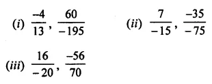 ML Aggarwal Class 7 Solutions for ICSE Maths Chapter 3 Rational Numbers Check Your Progress 5
