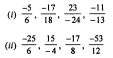 ML Aggarwal Class 7 Solutions for ICSE Maths Chapter 3 Rational Numbers Check Your Progress 8