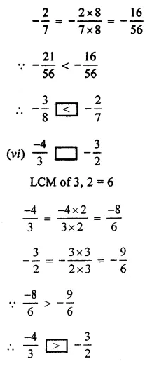 ML Aggarwal Class 7 Solutions for ICSE Maths Chapter 3 Rational Numbers Ex 3.2 11