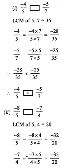 ML Aggarwal Class 7 Solutions for ICSE Maths Chapter 3 Rational Numbers Ex 3.2 8