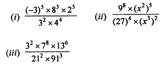 ML Aggarwal Class 7 Solutions for ICSE Maths Chapter 4 Exponents and Powers Check Your Progress 4
