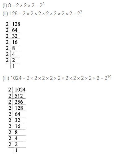 ML Aggarwal Class 7 Solutions for ICSE Maths Chapter 4 Exponents and Powers Ex 4.1 8
