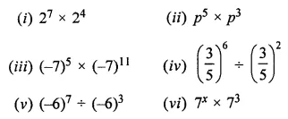 ML Aggarwal Class 7 Solutions for ICSE Maths Chapter 4 Exponents and Powers Ex 4.2 1